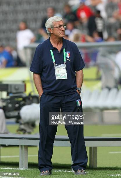 Marcelo Lippi Italy head coach before the match