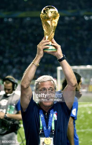 Marcelo Lippi Italy head coach with the trophy
