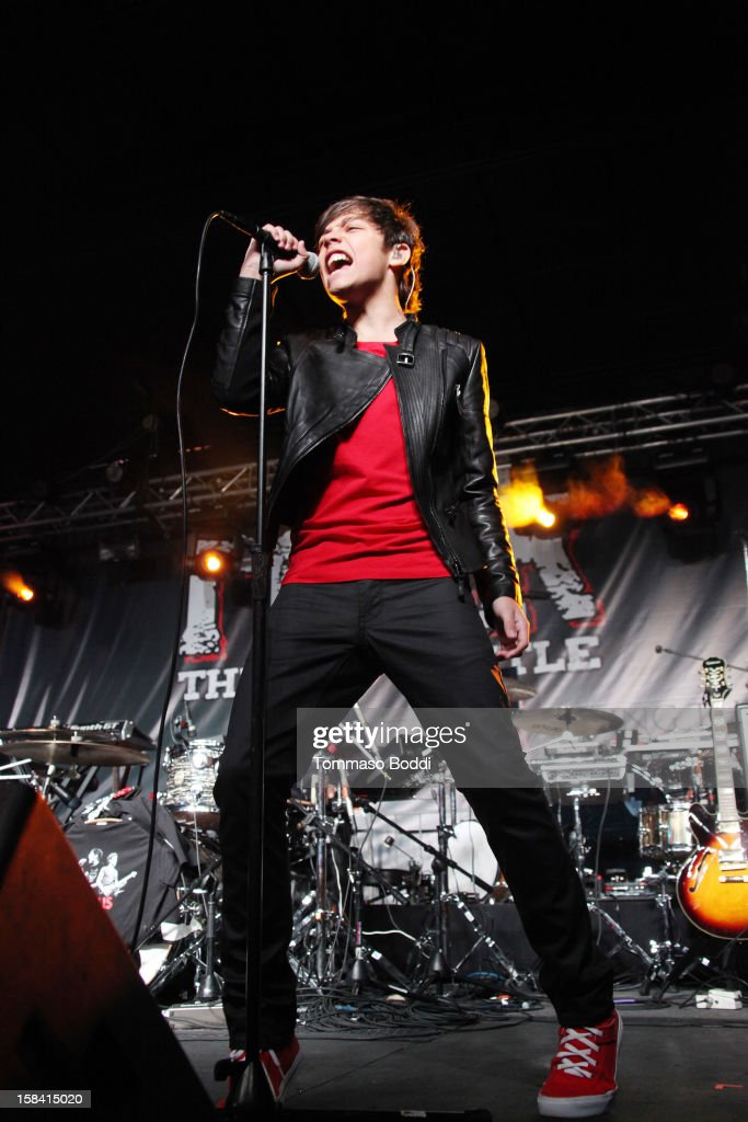 Marcelo Michelli of Sonus performs at the Salvation Army's 3rd annual Rock the Red Kettle concert held at the Nokia Theatre L.A. Live on December 15, 2012 in Los Angeles, United States.