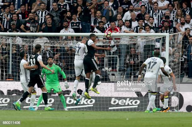 Marcelo of Besiktas in action during Turkish Spor Toto Super Lig soccer match between Besiktas and Fenerbahce at Vodafone Arena in Istanbul Turkey on...