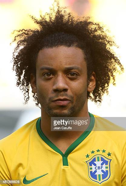 Marcelo of Brazil poses before the international friendly match between Brazil and Costa Rica at Red Bull Arena on September 5 2015 in Harrison New...