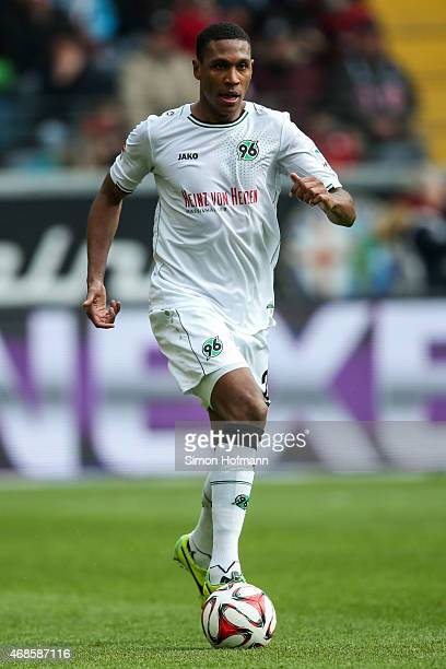 Marcelo of Hannover controls the ball during the Bundesliga match between Eintracht Frankfurt and Hannover 96 at CommerzbankArena on April 4 2015 in...