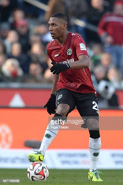 Marcelo of Hannover controls the ball during to the Bundesliga match between Hannover 96 and Borussia Dortmund at HDIArena on March 21 2015 in...