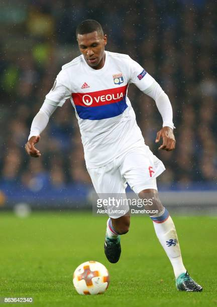 Marcelo of Olympique Lyon during the UEFA Europa League group E match between Everton FC and Olympique Lyon at Goodison Park on October 19 2017 in...