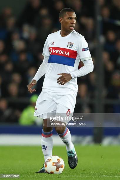 Marcelo of Olympique Lyonnais during the UEFA Europa League group E match between Everton FC and Olympique Lyon at Goodison Park on October 19 2017...