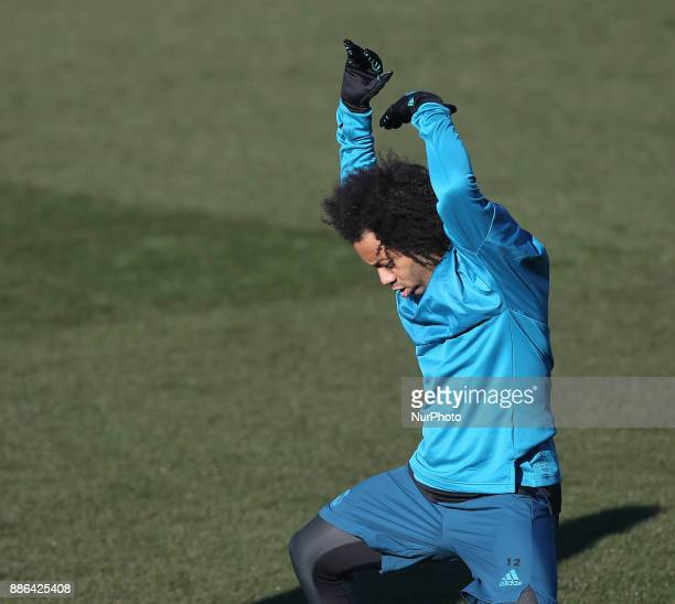 Marcelo of Real Madrid during a training session at Valdebebas training ground on December 5 2017 in Madrid Spain