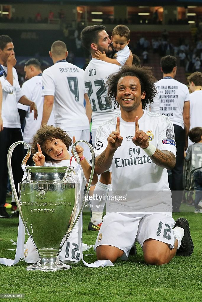 Marcelo of Real Madrid during the UEFA Champions League final match between Real Madrid and Atletico Madrid on May 28, 2016 at the Giuseppe Meazza San Siro stadium in Milan, Italy.