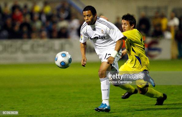 Marcelo of Real Madrid in action during the Copa del Rey match between AD Alcorcon and Real Madrid at Municipal de Santo Domingo on October 27 2009...