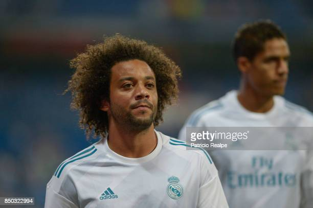 Marcelo of Real Madrid looks on before the match between Real Madrid and Betis as part of La Liga at Santiago Bernabeu Stadium on September 20 2017...