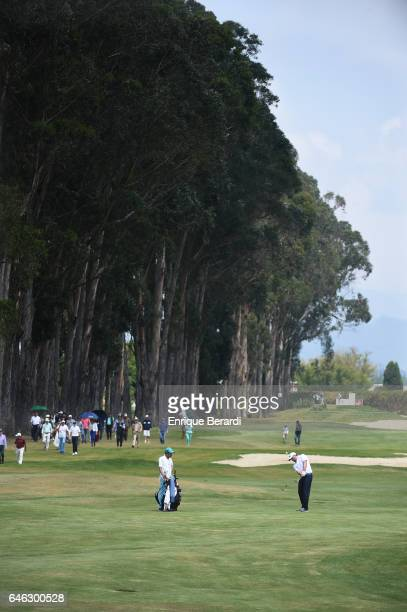 Marcelo Rozo of Colombia hits from the fourth fairway during the final round of the PGA TOUR Latinoamerica 70 Avianca Colombia Open at Club Campestre...