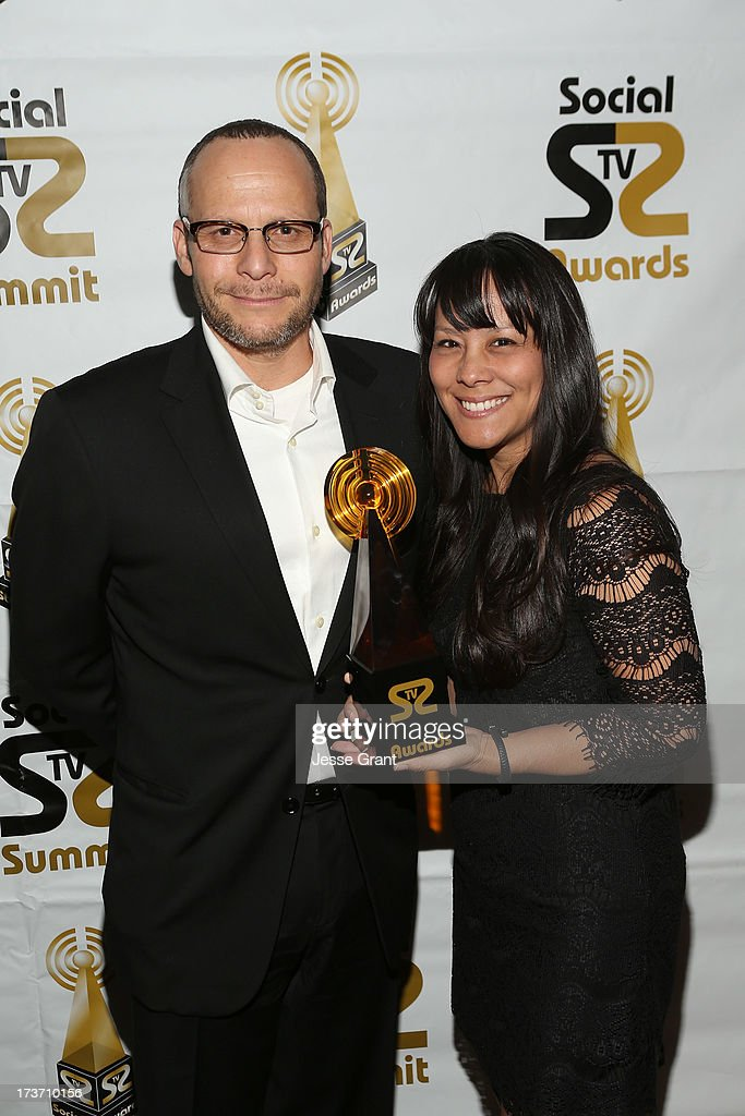 Marcelo Ziperovich and Tina Rosener attend the 2nd Annual Social TV Awards at Bel-Air Country Club on July 16, 2013 in Los Angeles, California.