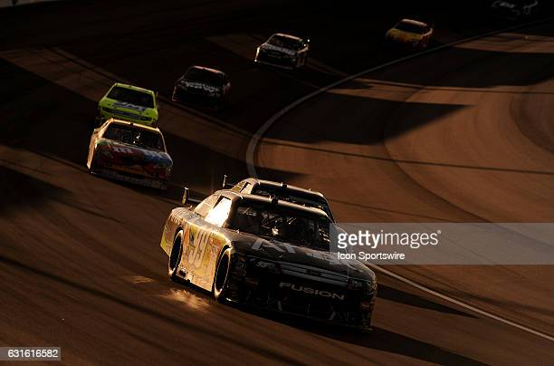 General view of action with Carl Edwards Roush Fenway Racing Ford Taurus during the Shelby 427 Sprint Cup Series race at Las Vegas Motor Speedway in...