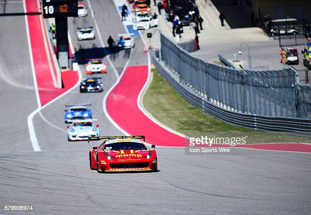 Henrique Cisneros driving a Ferrari 458 Italia for NGT Motorsport during the Pirelli World Challenge Grand Prix of Texas at the Circuit of the...