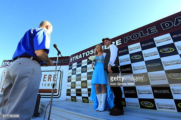 Wedding in the winners circle for the Stratosphere Pole Day at Las Vegas Motor Speedway in Las Vegas NV