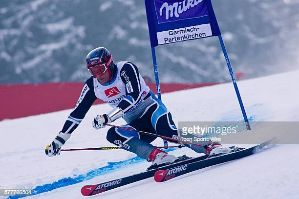 Aksel Lund SVINDAL NOR in action during the mens giant slalom race at the Audi FIS Alpine Skiing World Cup Finals the finale to the 20092010 season