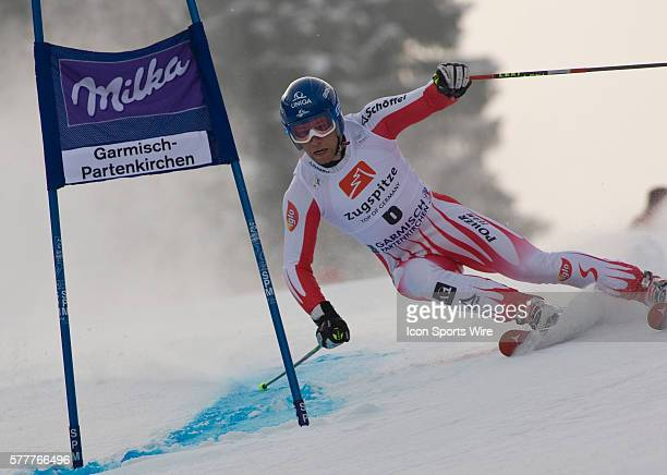 Benjamin Raich in action during the mens giant slalom race at the Audi FIS Alpine Skiing World Cup Finals the finale to the 20092010 season