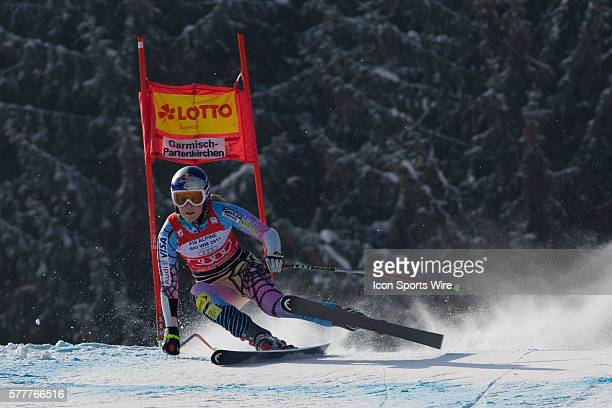 Lindsey Vonn in action during the womens Super G race at the Audi FIS Alpine Skiing World Cup Finals the finale to the 20092010 season