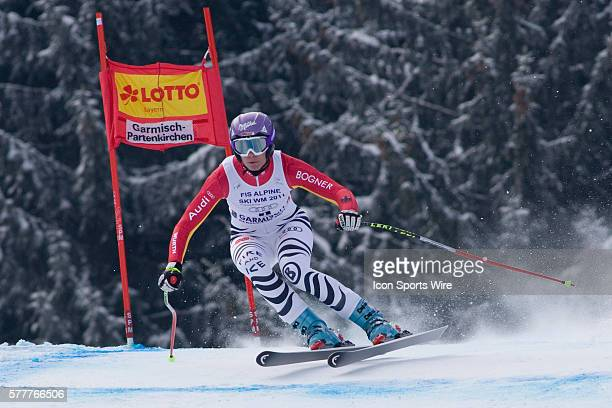 Maria Reisch GER in action during the womens Super G race at the Audi FIS Alpine Skiing World Cup Finals the finale to the 20092010 season