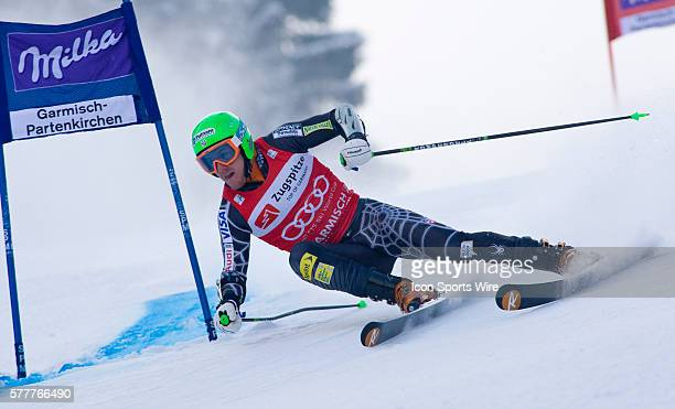Ted LIGETY USA in action during the mens giant slalom race at the Audi FIS Alpine Skiing World Cup Finals the finale to the 20092010 season