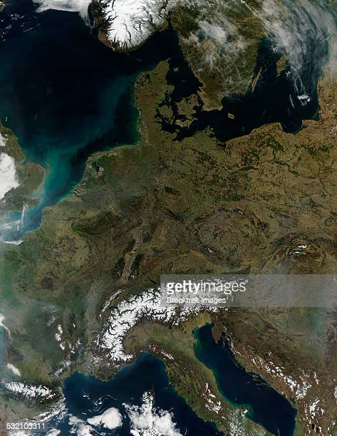 March 12, 2014 - Satellite view of Central Europe.