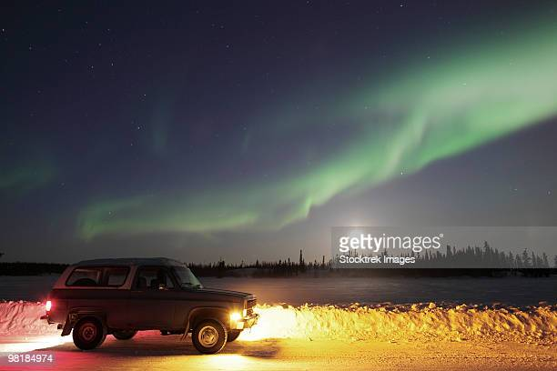March 13, 2009 - Aurora and old truck, Walsh Lake, Yellowknife, Northwest Territories, Canada.