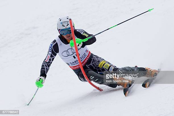 Ted Ligety in action during the mens slalom during the Audi FIS Alpine Skiing World Cup Finals the finale to the 20092010 season