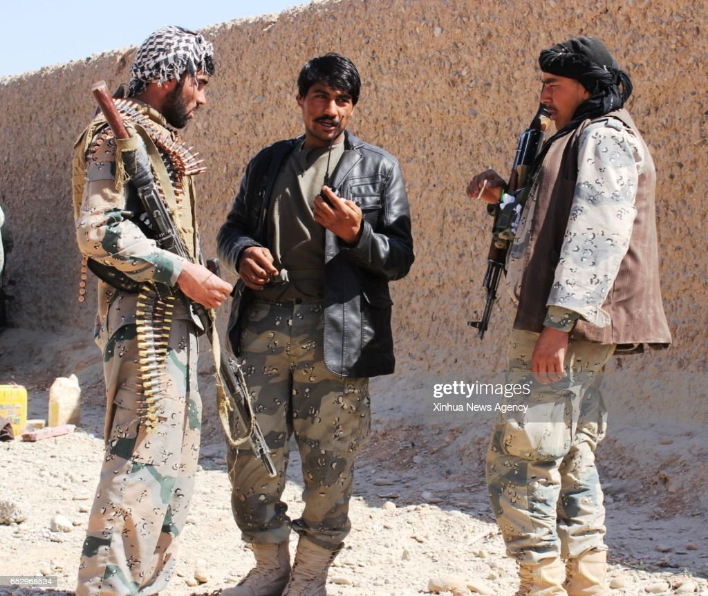 GAH, March 13, 2017 -- Afghan security force members take part in a military operation in Helmand province, Afghanistan, March 13, 2017. A total of 32 Afghans were set free after army commandos raided a Taliban-run detention center in the southern Helmand province Sunday night, the Defense Ministry said in a statement on Monday.