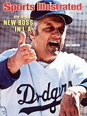 March 14 1977 Sports Illustrated Cover Baseball Closeup of Los Angeles Dodgers manager Tommy Lasorda during spring training FL 3/3/1977