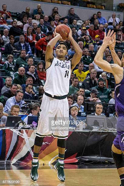 Michigan State Spartans guard Gary Harris during the Big Ten Men's Basketball Tournament game between the Michigan State Spartans vs Northwestern...