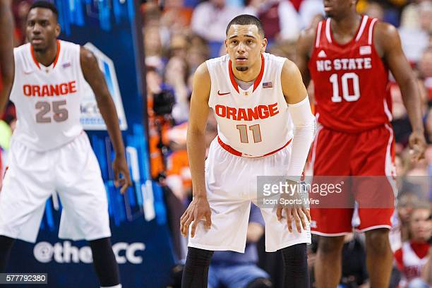 Syracuse Orange guard Tyler Ennis during the ACC 2014 basketball tournament game between Syracuse Orange and North Carolina State Wolfpack at the...