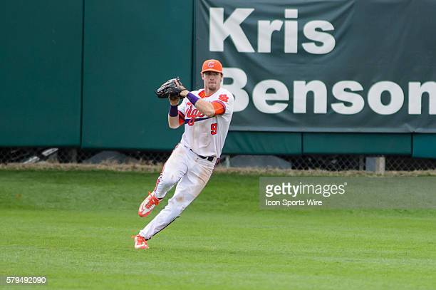 Clemson Tigers outfielder Steven Duggar during Game 1 of a doubleheader between Notre Dame and Clemson at Doug Kingsmore Stadium in Clemson SC...