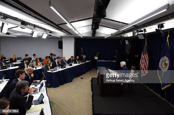 US Federal Reserve Chair Janet Yellen attends a news conference in Washington DC capital of the United States on March 15 2017 US Federal Reserve on...