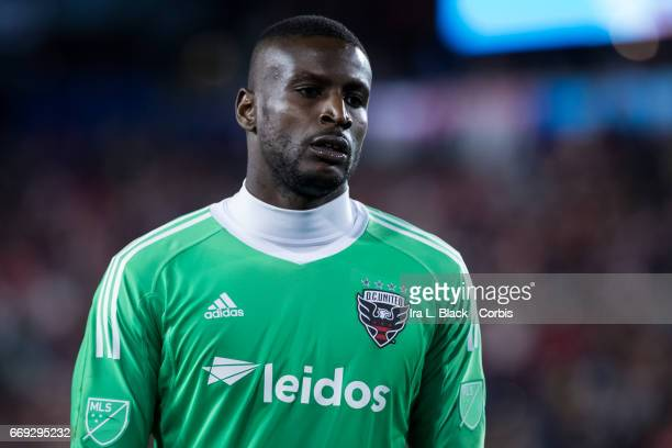 DC United Goalkeeper Bill Hamid is frustrated with the play during the Soccer MLS New York Red Bulls vs DC United on April 15 2017 at Red Bull Arena...
