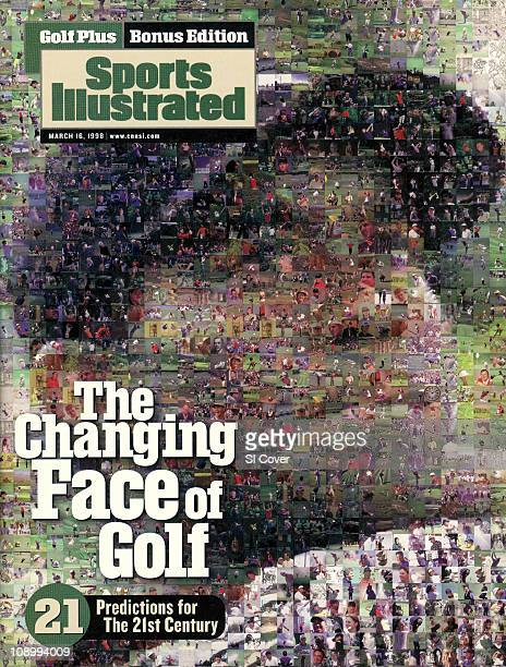 March 16 1998 Sports Illustrated Presents Golf Plus CoverGolf Photographic mosaic of Tiger Woods digital illustration by Rob Silver for Art...