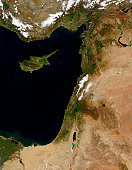 March 17, 2011 - Satellite view of snow in Lebanon.
