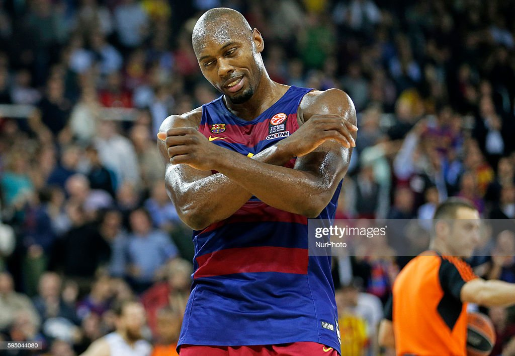 Joey Dorsey during the match between FC Barcelona and Real Madrid corresponding to the week 11 of the Top 16 of the Euroleague played at the Palau...