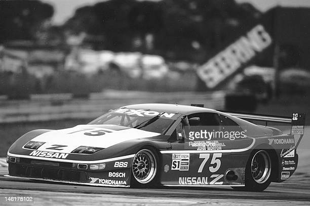 Steve Millen Johnny O'Connell and John Morton drove this Nissan 300ZX owned by Clayton Cunningham to victory in the 12 Hours of Sebring at Sebring...