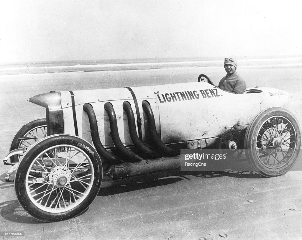 "Barney Oldfield acquired the famous ""Blitzen Benz"" and renamed it the ""Lightning Benz"" At Daytona Beach on March 16 Oldfield set a new world land..."