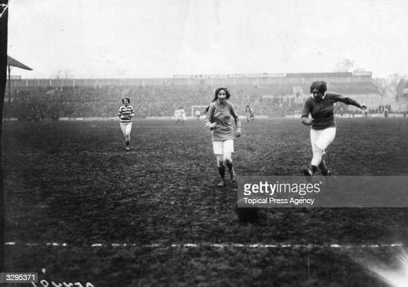 Play during the Theatrical Ladies Football match at Tottenham North London