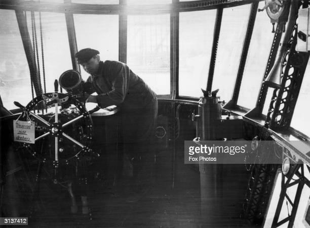 Steering wheel of the hydrogenfilled German airship Hindenburg