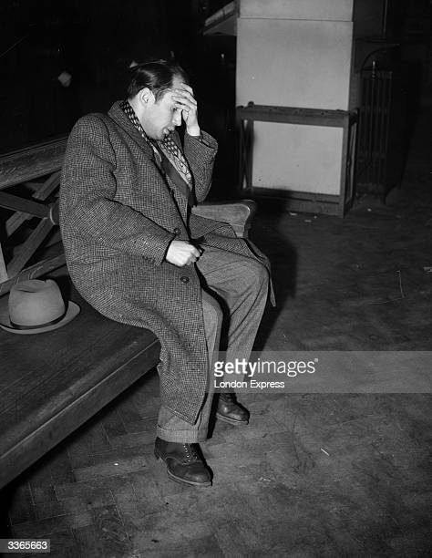 Vorosov a Czechoslovakian refugee collapses onto a bench at Croydon Airport on being told that he is to be deported back to the country which Germany...