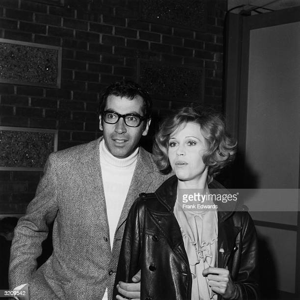 French director Roger Vadim and his wife American actor Jane Fonda at the premiere of the film 'Goodbye Columbus' at the Screen Directors' Guild...