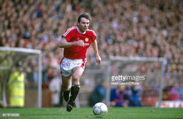 Football League Division One Manchester United v Luton town Brian McClair of Manchester United runs with the ball Photo Mark Leech / Getty Images