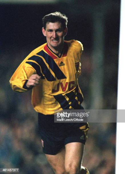 15 March 1994 European Cup Winners Cup Arsenal v Torino Arsenal captain Tony Adams celebrates a goal