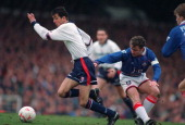12 March 1994 FA Cup Bolton Wanderers v Oldham Athletic Owen Coyle gets away from Mike Milligan of Oldham
