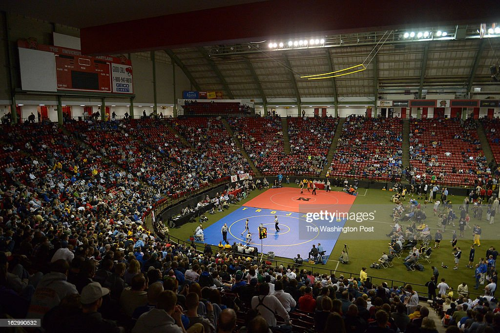 The Maryland 4A/3A state High school wrestling championships at Cole Field house on March 2, 2013 in College Park, MD