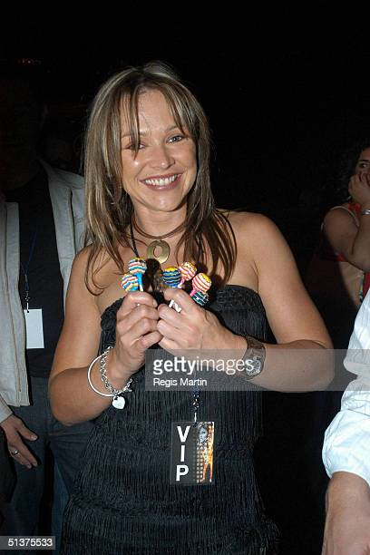 13 March 2004 CARLA BONNER at the after party of Fashion Rocks at the Heat Nightclub in the Crown Casino complex Melbourne Australia