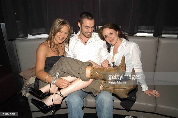 13 March 2004 CARLA BONNER FABIO TOLLI and wife KYM VALENTINE at the after party of Fashion Rocks at the Heat Nightclub in the Crown Casino complex...
