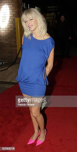 30 March 2004 Singer Natalie Miller at the Sydney Confidential Golden Slipper Soiree held at the Sydney Film TV Studios in Rozelle Sydney Australia