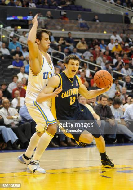 Cal Nikola Knezevic and UCLA Nikola Dragovic during a Pac10 Tournament game featuring the UCLA Bruins against the California Golden Bears at the...